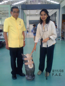 Asso. Prof. Dr. Therdchai Jivacate and Soraida Salwala at the Prostheses   Foundation on Monday 11th August, 2008.