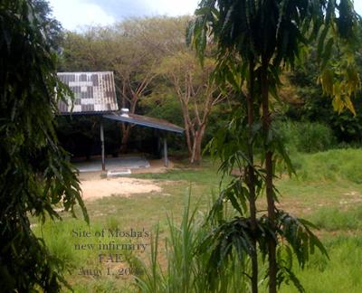 Site of Mosha's new Infirmary, next to Motala.